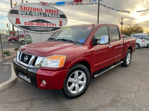 2011 Nissan Titan for sale at Arizona Drive LLC in Tucson AZ