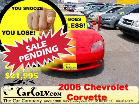 2006 Chevrolet Corvette for sale at The Car Company in Las Vegas NV
