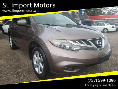 2012 Nissan Murano for sale at SL Import Motors in Newport News VA