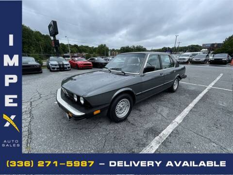 1985 BMW 5 Series for sale at Impex Auto Sales in Greensboro NC