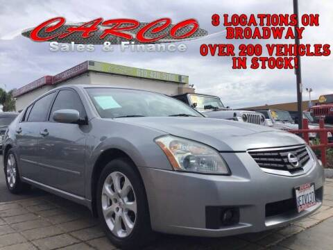 2008 Nissan Maxima for sale at CARCO SALES & FINANCE in Chula Vista CA