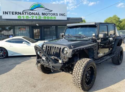 2008 Jeep Wrangler Unlimited for sale at International Motors Inc. in Nashville TN