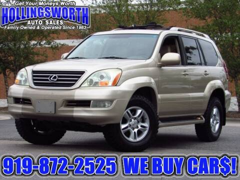 2007 Lexus GX 470 for sale at Hollingsworth Auto Sales in Raleigh NC