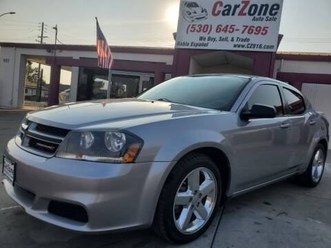 2013 Dodge Avenger for sale at CarZone in Marysville CA