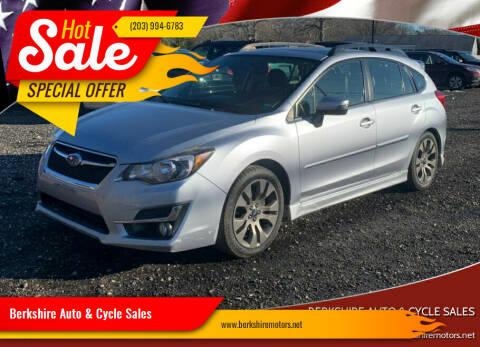 2015 Subaru Impreza for sale at Berkshire Auto & Cycle Sales in Sandy Hook CT