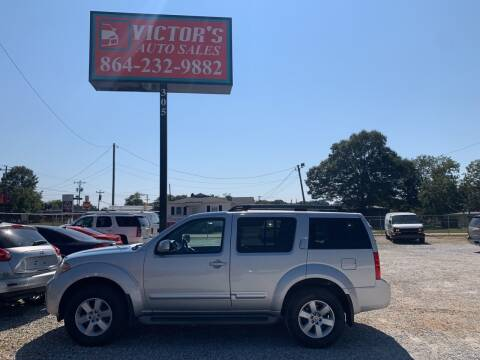 2012 Nissan Pathfinder for sale at Victor's Auto Sales in Greenville SC