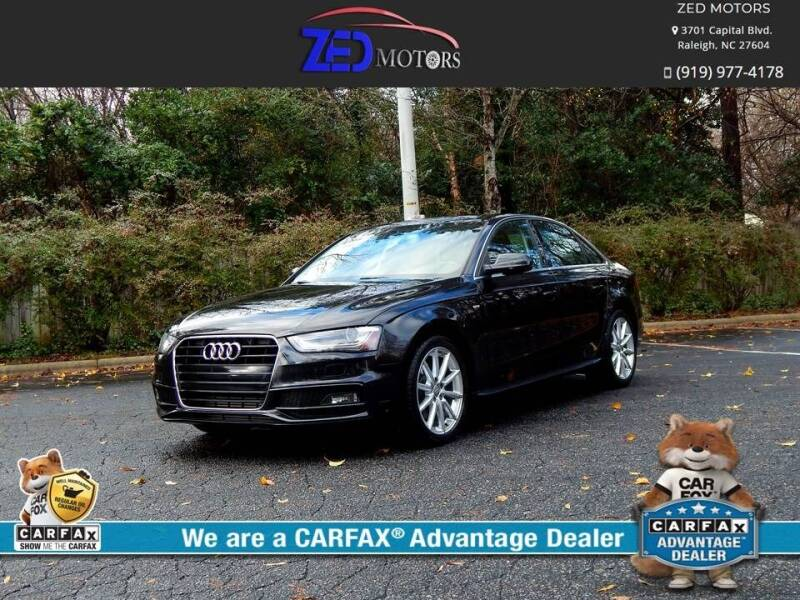 2014 Audi A4 for sale at Zed Motors in Raleigh NC