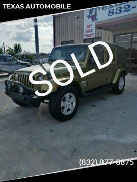 2007 Jeep Wrangler Unlimited for sale at TEXAS AUTOMOBILE in Houston TX