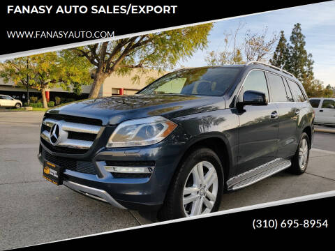 2013 Mercedes-Benz GL-Class for sale at FANASY AUTO SALES/EXPORT in Yorba Linda CA