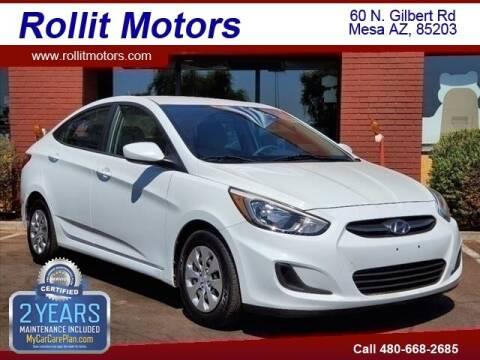 2016 Hyundai Accent for sale at Rollit Motors in Mesa AZ