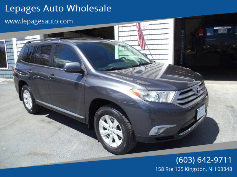 2012 Toyota Highlander for sale at Lepages Auto Wholesale in Kingston NH