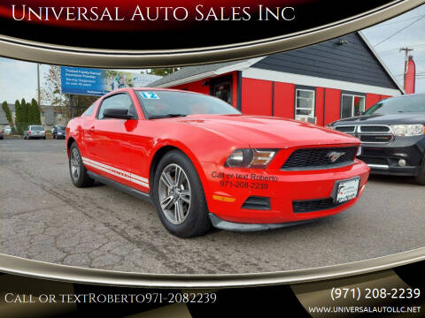 2012 Ford Mustang for sale at Universal Auto Sales Inc in Salem OR
