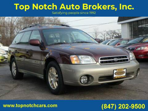 2001 Subaru Outback for sale at Top Notch Auto Brokers, Inc. in Palatine IL