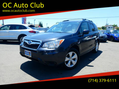 2016 Subaru Forester for sale at OC Auto Club in Midway City CA