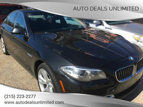 2014 BMW 5 Series for sale at AUTO DEALS UNLIMITED in Philadelphia PA