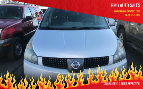 2004 Nissan Quest for sale at GMG AUTO SALES in Scranton PA