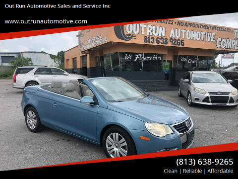 2007 Volkswagen Eos for sale at Out Run Automotive Sales and Service Inc in Tampa FL