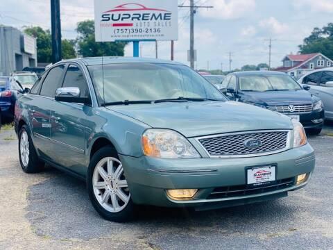 2005 Ford Five Hundred for sale at Supreme Auto Sales in Chesapeake VA