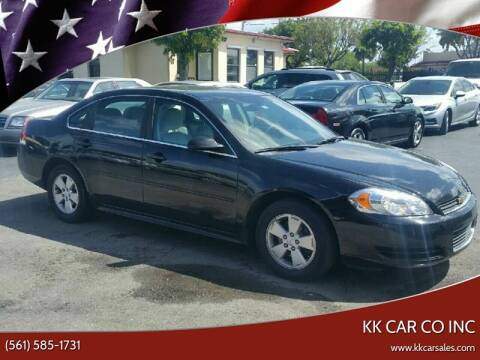 2011 Chevrolet Impala for sale at KK Car Co Inc in Lake Worth FL