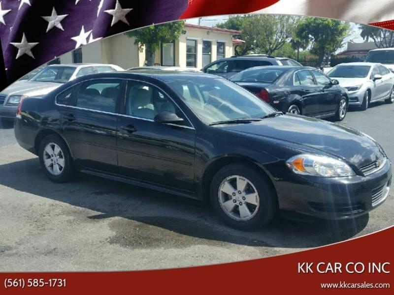 2011 Chevrolet Impala for sale at KK Car Co Inc in Lake Worth FL