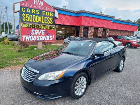 2012 Chrysler 200 Convertible for sale at HW Auto Wholesale in Norfolk VA