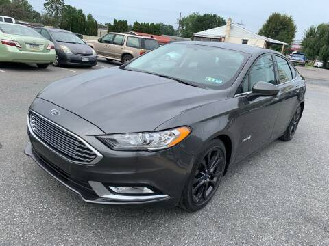 2018 Ford Fusion Hybrid for sale at Sam's Auto in Akron PA