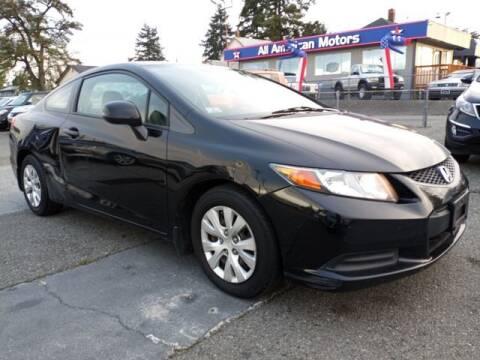 2012 Honda Civic for sale at All American Motors in Tacoma WA