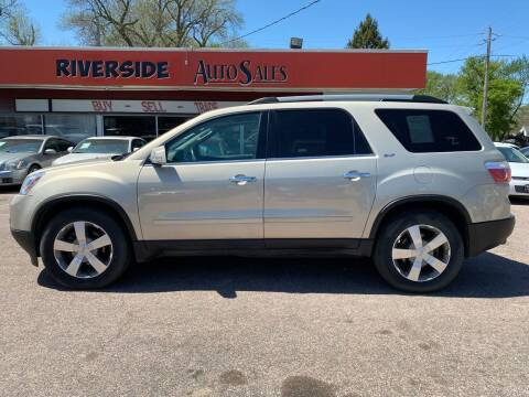 2011 GMC Acadia for sale at RIVERSIDE AUTO SALES in Sioux City IA