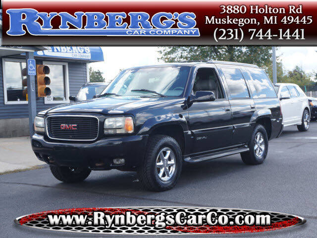 2000 GMC Yukon for sale at Rynbergs Car Co in Muskegon MI