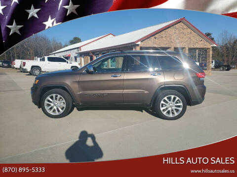 2017 Jeep Grand Cherokee for sale at Hills Auto Sales in Salem AR