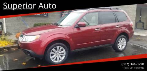 2012 Subaru Forester for sale at Superior Auto in Cortland NY