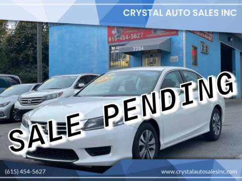 2015 Honda Accord for sale at Crystal Auto Sales Inc in Nashville TN