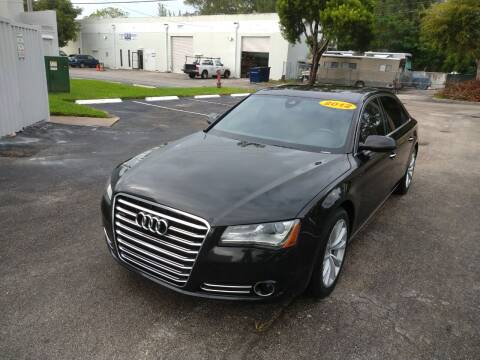 2012 Audi A8 L for sale at Best Price Car Dealer in Hallandale Beach FL