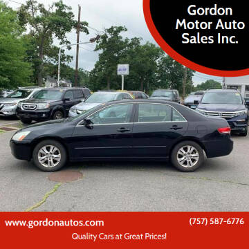 2004 Honda Accord for sale at Gordon Motor Auto Sales Inc. in Norfolk VA