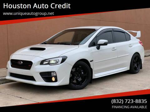 2016 Subaru WRX for sale at Houston Auto Credit in Houston TX