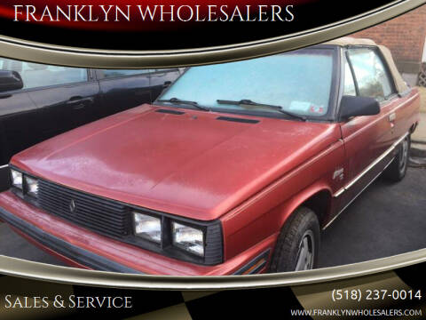 1985 AMC Alliance for sale at Franklyn Auto Sales in Cohoes NY