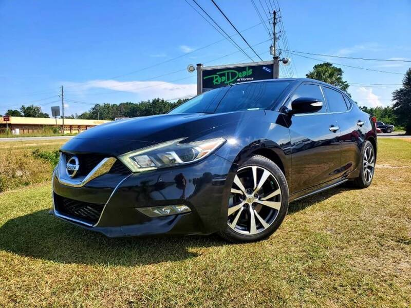 2016 Nissan Maxima for sale at Real Deals of Florence, LLC in Effingham SC