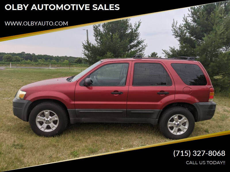 2005 Ford Escape for sale at OLBY AUTOMOTIVE SALES in Frederic WI
