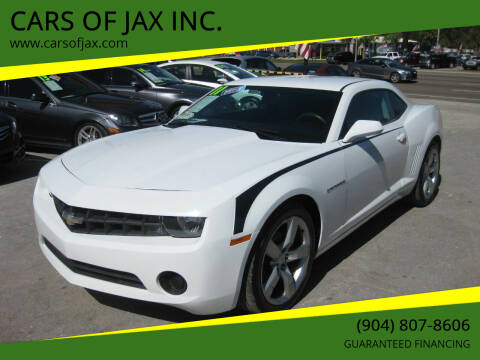 2011 Chevrolet Camaro for sale at CARS OF JAX INC. in Jacksonville FL