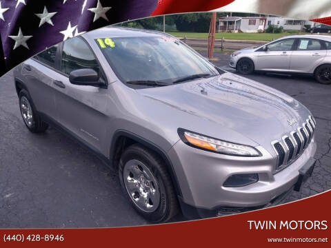 2014 Jeep Cherokee for sale at TWIN MOTORS in Madison OH