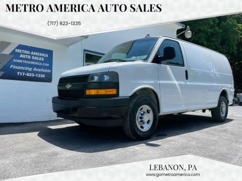 2018 Chevrolet Express Cargo for sale at METRO AMERICA AUTO SALES of Lebanon in Lebanon PA