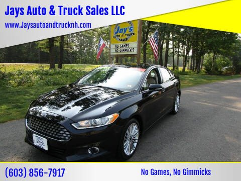 2016 Ford Fusion for sale at Jays Auto & Truck Sales LLC in Loudon NH