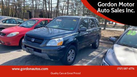 2005 Honda Pilot for sale at Gordon Motor Auto Sales Inc. in Norfolk VA