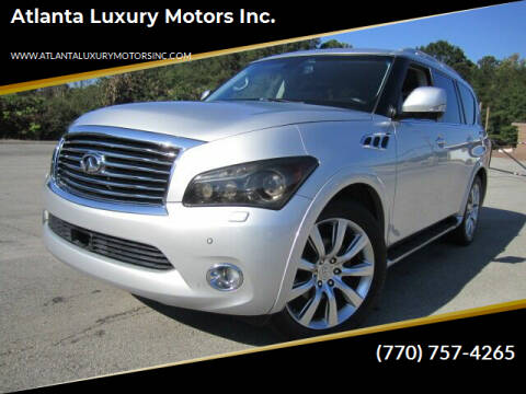2012 Infiniti QX56 for sale at Atlanta Luxury Motors Inc. in Buford GA