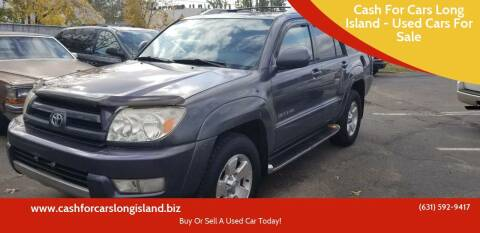 2003 Toyota 4Runner for sale at Cash For Cars Long Island - Used Cars For Sale in Lindenhurst NY