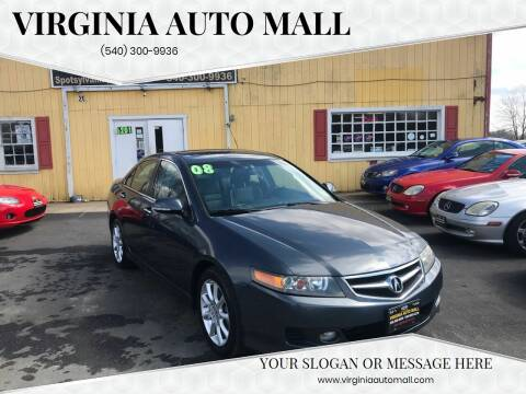 2008 Acura TSX for sale at Virginia Auto Mall in Woodford VA