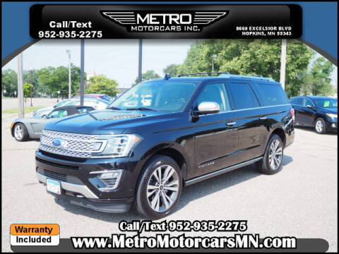 2020 Ford Expedition MAX for sale at Metro Motorcars Inc in Hopkins MN