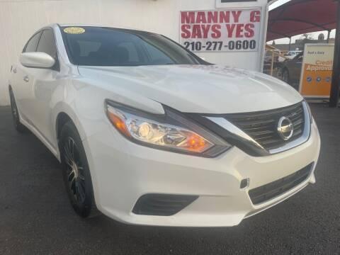 2016 Nissan Altima for sale at Manny G Motors in San Antonio TX