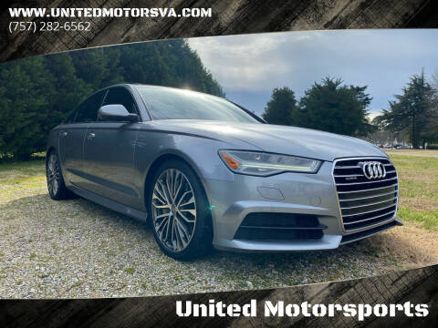 2017 Audi A6 for sale at United Motorsports in Virginia Beach VA
