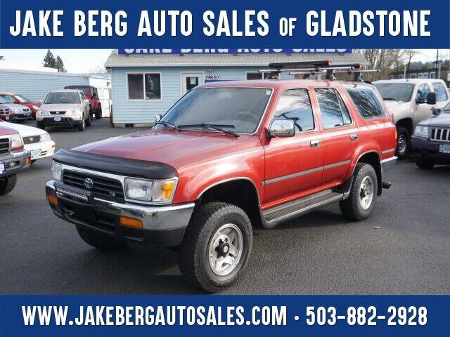 1992 Toyota 4Runner for sale at Jake Berg Auto Sales in Gladstone OR